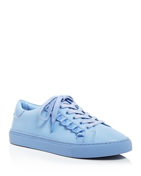 Tory Sport - Women s Ruffle Leather Lace Up Sneakers ... 11bc9897a57a6