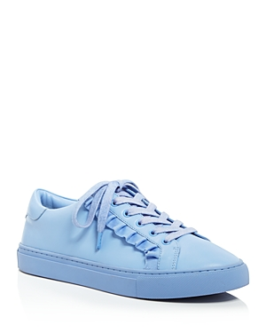 Tory Sport Women's Ruffle Leather Lace Up Sneakers