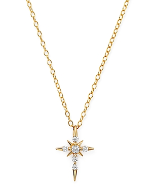 Bloomingdale's Diamond Cross Pendant Necklace in 14K Yellow Gold, 0.13 ct. t.w. - 100% Exclusive