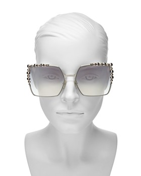 Fendi - Women's Embellished Mirrored Square Sunglasses, 60mm