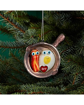 Bloomingdale's - Bacon & Egg BFF Glass Ornament - 100% Exclusive