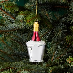 Bloomingdale's Glass Wine Bucket Ornament - 100% Exclusive_0