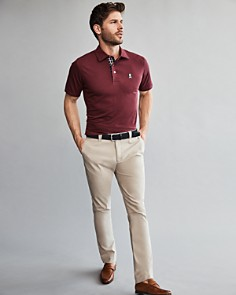 Psycho Bunny Contrast-Lined Polo Shirt & The Men's Store at Bloomingdale's Tailored Fit Chinos - 100% Exclusive_0