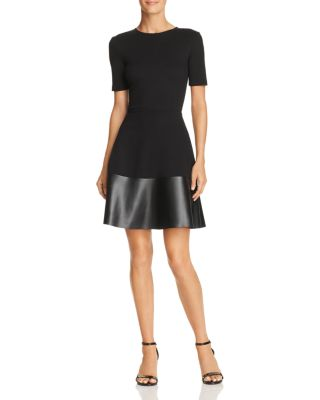 Faux Leather Hem Dress   100% Exclusive by Aqua
