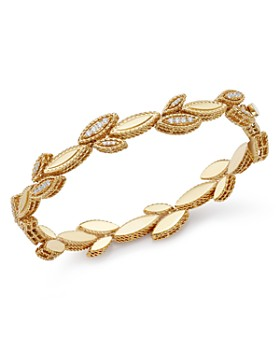 Roberto Coin - 18K Yellow Gold Diamond Petals Diamond Bracelet - 100% Exclusive