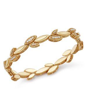 Roberto Coin 18K Yellow Gold Diamond Petals Diamond Bracelet - 100% Exclusive