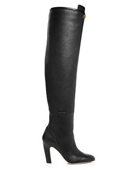 Stuart Weitzman - Women's Edie Round Toe Leather High-Heel Boots