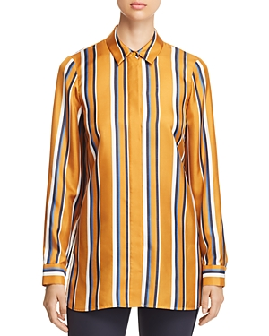 Lafayette 148 New York Barry Striped Silk Blouse