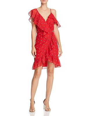 WAYF - Afragola Ruffled Faux-Wrap Dress