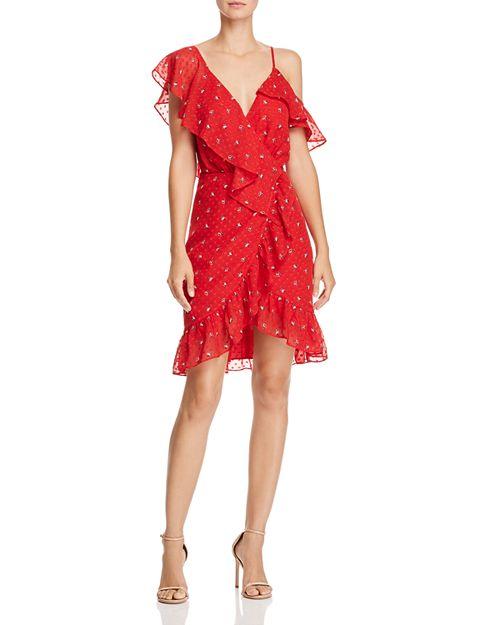 WAYF - Afragola Ruffled Faux-Wrap Dress