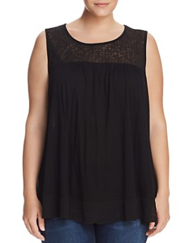 Cupio Plus - Swing Lace Panel Top