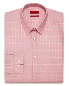 HUGO - Windowpane Slim Fit Dress Shirt