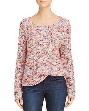Rebecca Minkoff Juna Marled Cable-Knit Sweater