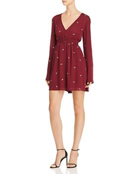 En Créme - Embroidered Smocked Dress
