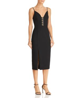 FINDERS KEEPERS ADVANCE BODY-CON MIDI DRESS