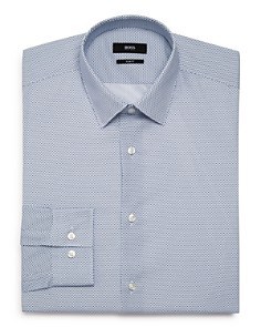 BOSS - Circle-Dot Slim Fit Dress Shirt