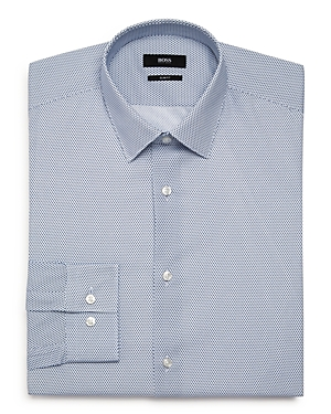 Boss Circle-Dot Slim Fit Dress Shirt