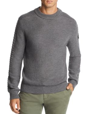 Paterson Mixed-Stitch Pullover Sweater, Iron Gray