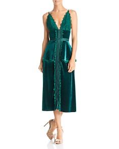 Sau Lee Bridget Velvet Dress