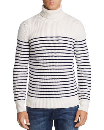 The Men's Store at Bloomingdale's - Striped Merino Wool Turtleneck Sweater - 100% Exclusive