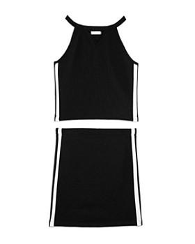Sally Miller - Girls' Athletic-Stripe Textured Tank & Skirt Set, Big Kid - 100% Exclusive