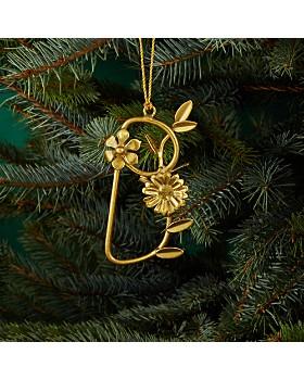 Aman Imports - Metal Leaf Letter Ornament