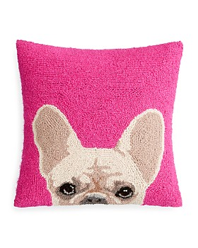 "Peking Handicraft - Handicraft French Bulldog Decorative Pillow, 16"" x 16"""