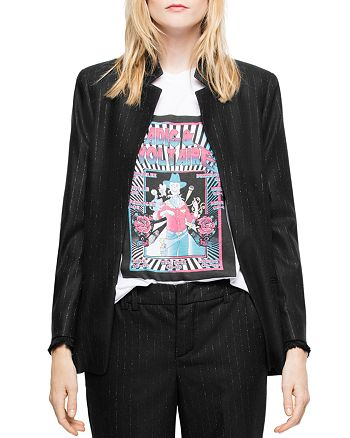 Zadig & Voltaire - Volly Stripes Open-Front Blazer