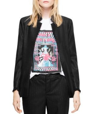 VOLLY STRIPES OPEN-FRONT BLAZER