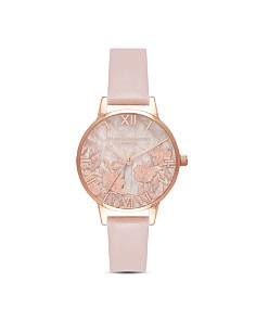 Olivia Burton - Quartz & Floral-Pattern Dial Watch, 30mm