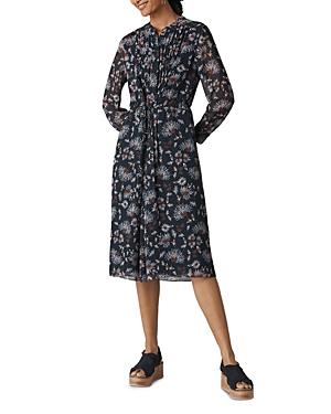 Whistles Pitti Floral Print Midi Dress