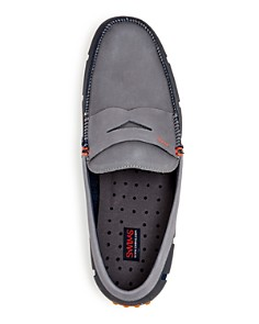 Swims - Men's Lux Nubuck Leather & Rubber Penny Loafer Drivers