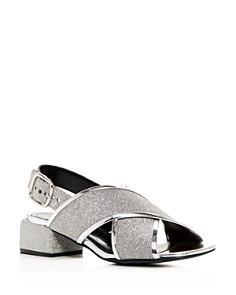Marni - Women's Glitter Crisscross Block-Heel Sandals
