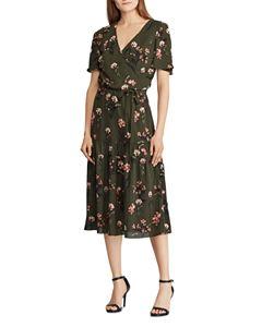 0e89225f6 Leota Mixed Print Faux-Wrap Dress