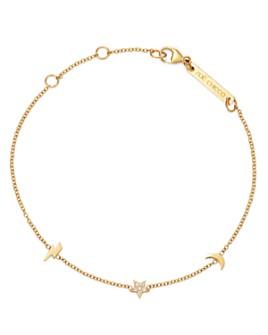 Zoë Chicco - 14K Yellow Gold Itty Bitty Lightning Bolt, Moon & Star Diamond Adjustable Bracelet