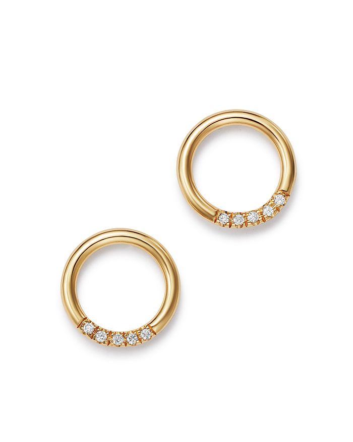 950f68b0ad5047 Zoë Chicco 14k Yellow Gold Small Thick Circle Pavé Diamond Stud