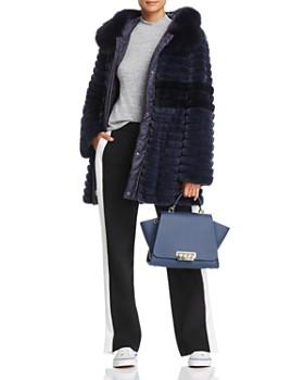 Maximilian Furs - Reversible Rabbit Fur & Down Coat - 100% Exclusive