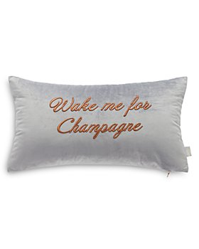"Ted Baker - Wake Me For Champagne Decorative Pillow, 12"" x 22"""