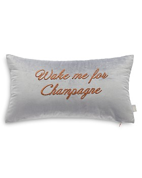 """Ted Baker - Wake Me For Champagne Decorative Pillow, 12"""" x 22"""""""