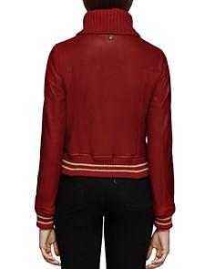 Mackage - Krysta Leather Baseball Jacket