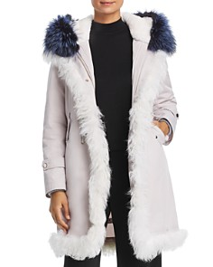 Maximilian Furs - Rabbit Fur-Lined Parka with Lamb Shearling & Fox Fur Trim - 100% Exclusive
