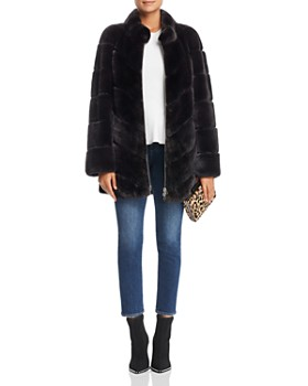 Maximilian Furs - Rabbit Fur Coat- 100% Exclusive