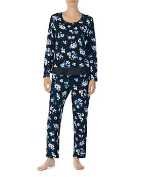 kate spade new york - Floral Print Long PJ Set