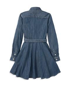 Ralph Lauren - Girls' Denim Shirt Dress with Belt - Big Kid