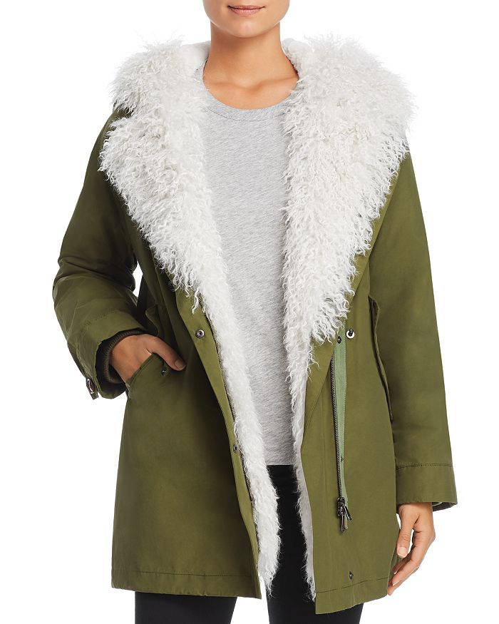 Maximilian Furs - Rabbit Fur-Lined Parka with Lamb Shearling Trim - 100% Exclusive