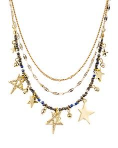"""Rebecca Minkoff - Multi-Star Layered Necklace, 17"""""""