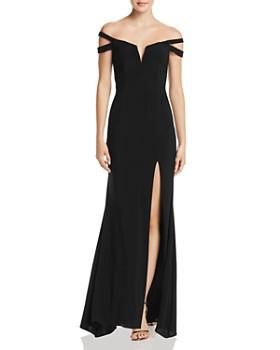 AQUA - Off-the-Shoulder Gown - 100% Exclusive 7ac82833b