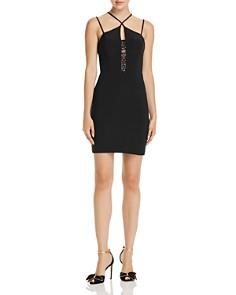 AQUA - Cross-Neck Lace Inset Dress - 100% Exclusive
