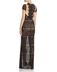 Aijek - Lace Cap Sleeve Illusion Maxi Dress - 100% Exclusive