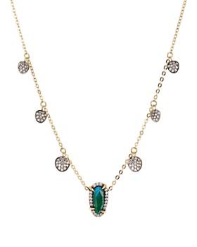 "Nadri - Jasmine Shaky Station Necklace, 15"""